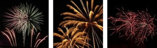 Feuerwerk für Dorffeste, Bürgerfest, Stadtfest.