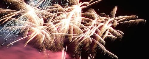 Geburtstagsfeuerwerk in Stralsund